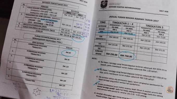 Kos Masuk Sekolah Kawalan KPM - SMKA Ulul Albab (TMUA)