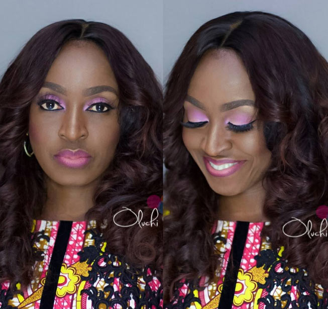 Kate Henshaw in flawless makeup selfies