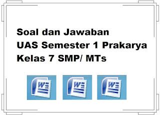 Soal UAS Semester 1 Prakarya Kelas 7