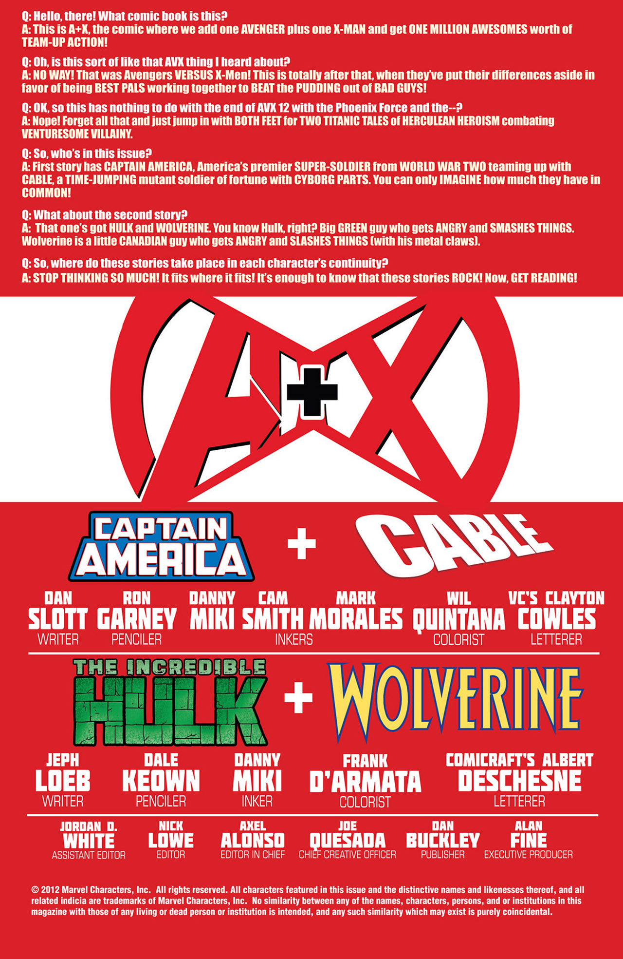 Read online A X comic -  Issue #1 - 2