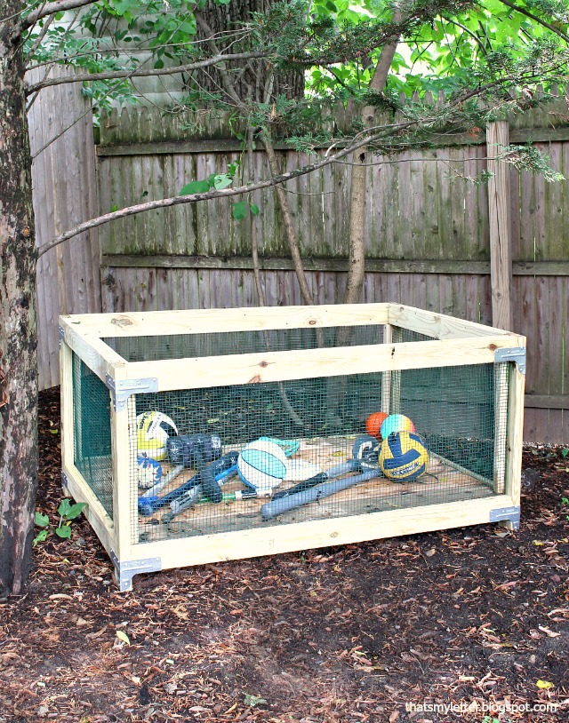 diy outdoor toy storage bin
