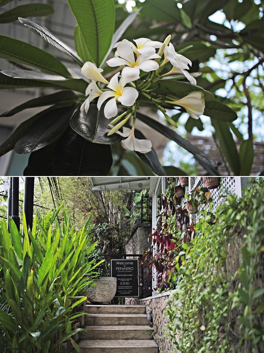 balinese flower garden food restaurant
