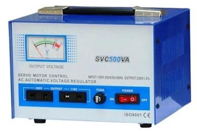 Stabilizer atau AVR (Auto Voltage Regulator)