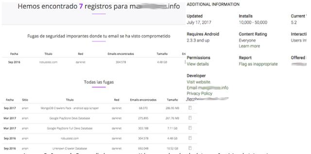 Correo de desarrollador comprometido en una brecha de datos en servicios de Internet imagen