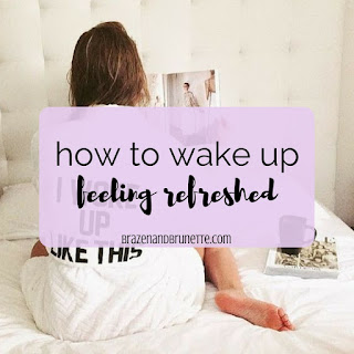 9 steps to sleeping better and waking up refreshed and happy. Insomnia tips. Sleep app. How to go to sleep earlier. How to get a better night's sleep. | brazenandbrunette.com