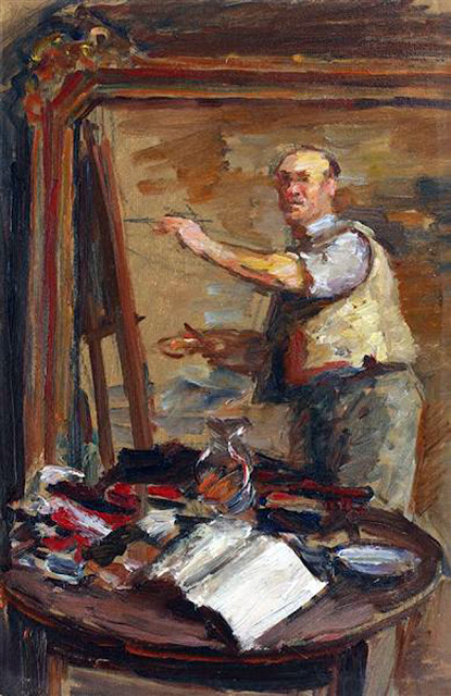 Samuel Mutzner, Self Portrait, Portraits of Painters, Fine arts, Portraits of painters blog, Paintings of Samuel Mutzner, Painter Samuel Mutzner