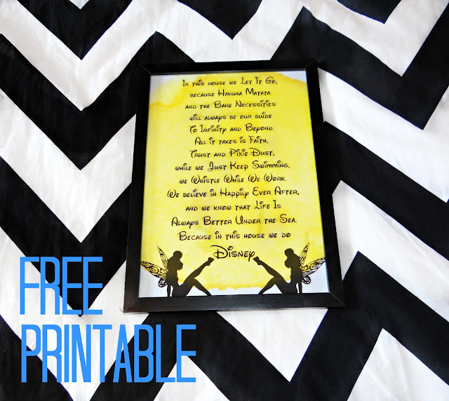In this house we do Disney FREE Printable