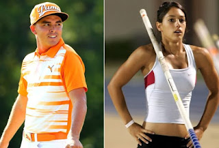 Rickie with his girlfriend Alison
