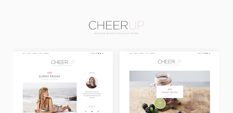 CheerUp Free Blogger Template