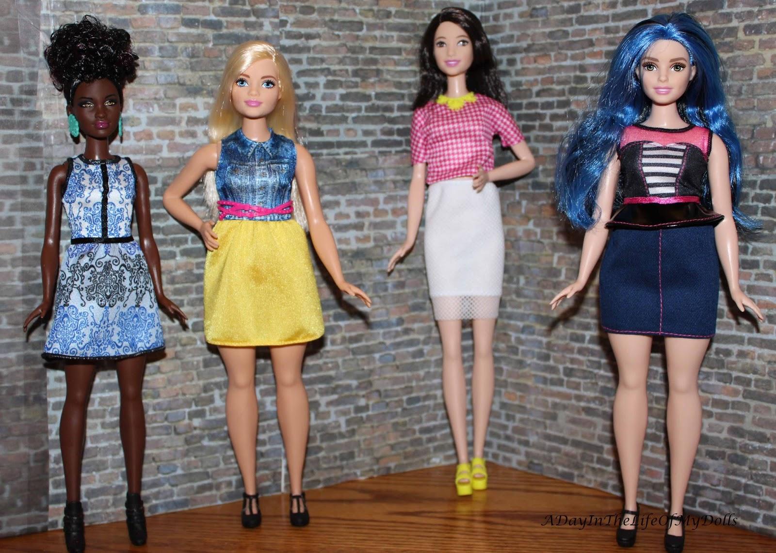Barbie Doll New Original Curvy Blue Nude