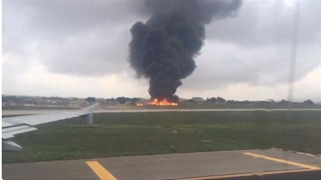 Plane crash on Malta archipelago in the Mediterranean Sea kills five