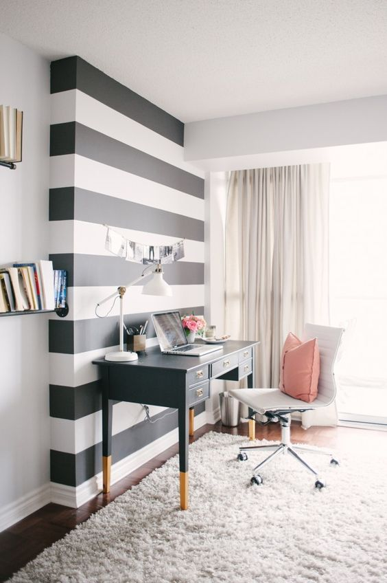 Ideas de decoración para tus Escritorios o Home Office.  Fuente: Fuente: Sayeh Pezeshki