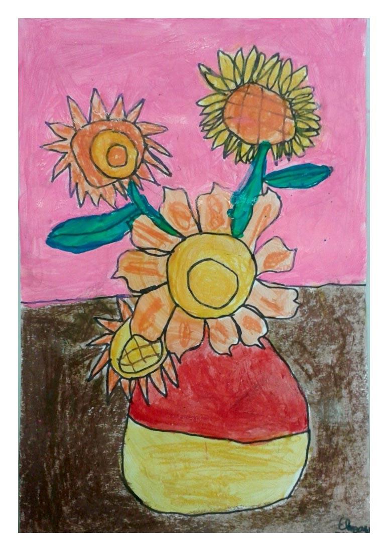 Art With Katie Art For Kids Van Gogh Sunflowers