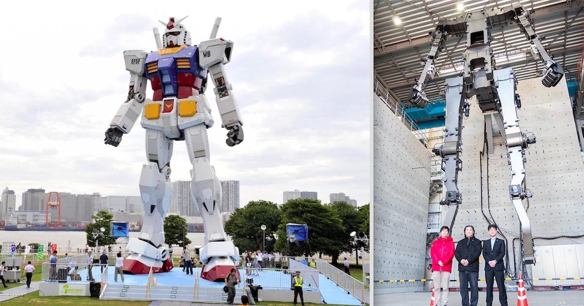 Japanese Engineers Build Gigantic Gundam Robot