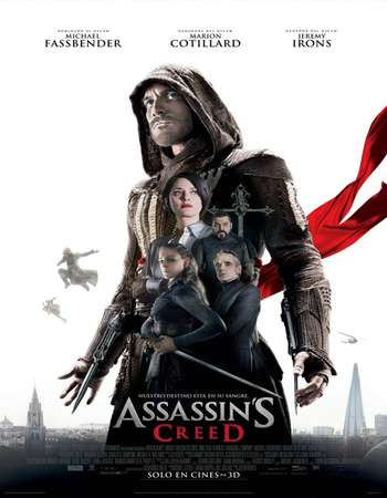 Poster Of Assassin's Creed 2016 English 500MB HC HDRip 720p HEVC Free Download Watch Online downloadhub.in