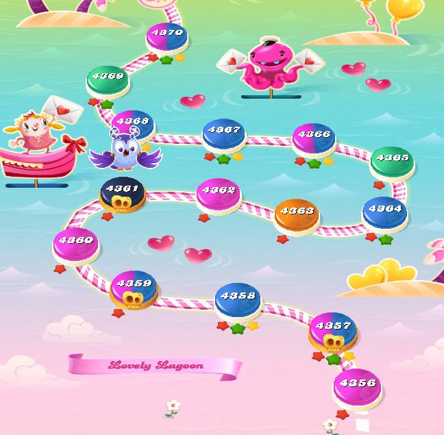 Candy Crush Saga level 4356-4370