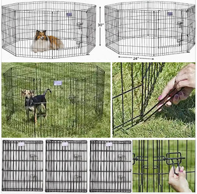 Midwest Pen for Pet Dogs: Collapsible Multi-Side Dog Cage Playpen
