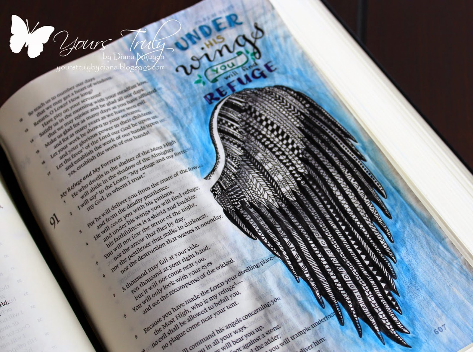 Diana Nguyen, Zentangle, bible art journaling, illustrated faith