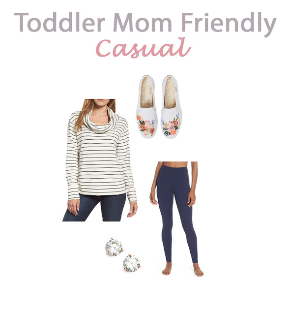 casual toddler mom friendly outfits, mom friendly outfit ideas, modern mom style