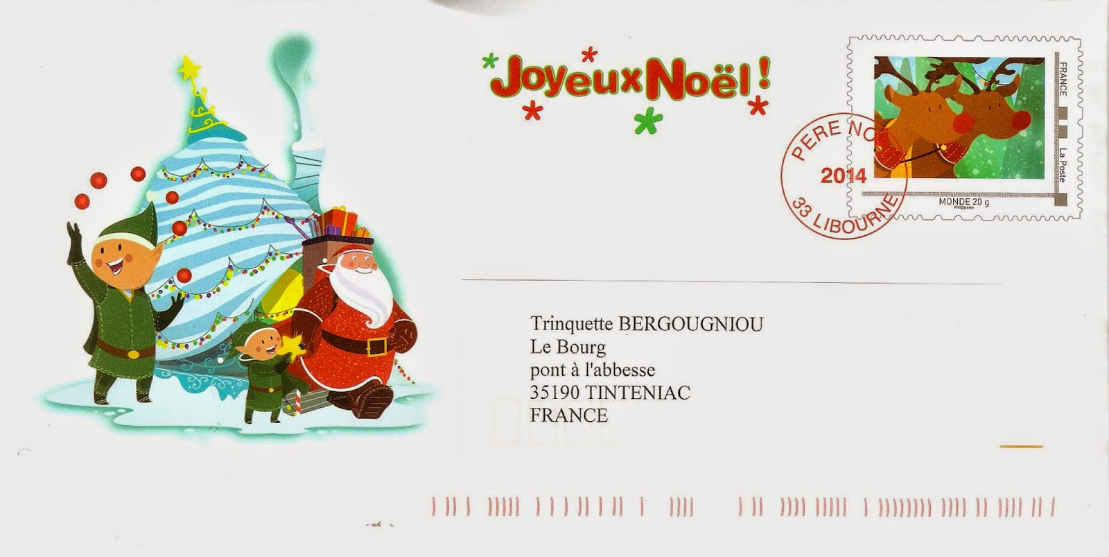 Envoyer Lettre Au Pere Noel Par La Poste.La Marcophilie Navale La Lettre Du Pere Noel 2014