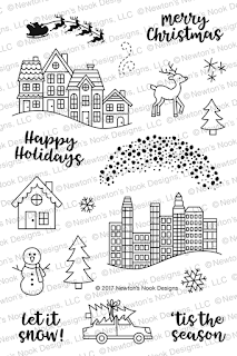 Snow Globe Scenes Stamp Set by Newtons Nook Designs