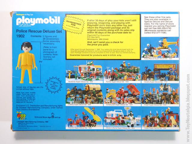 Playmobil Schaper Deluxe Set reverso caja back box