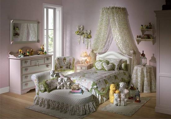 Dormitorios color rosa para ni as rom nticas dormitorios for Cuarto de nina rosa palido