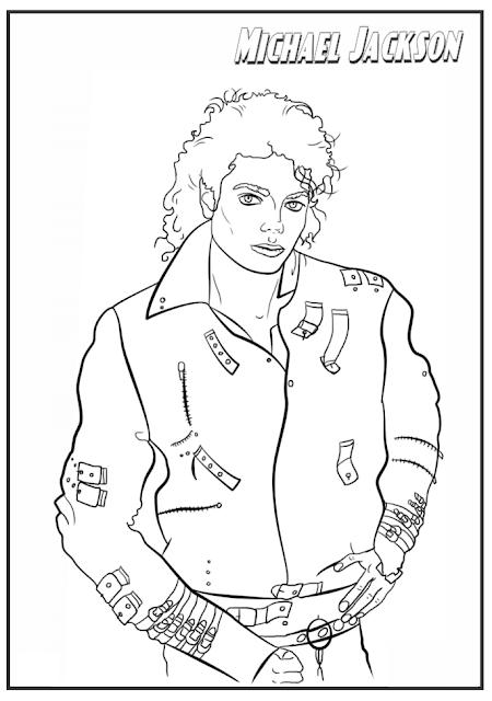 Blog de Geografia: Michael Jackson - Desenho para Imprimir ...