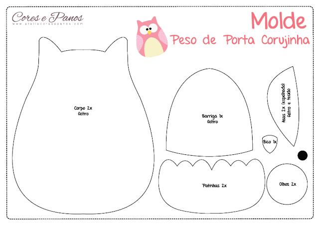 Atelie Cores E Panos Blog Oficial Peso De Porta Corujinha Pap