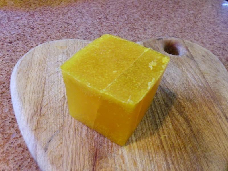 Block of lemon soap 1