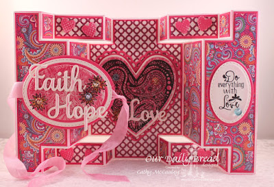 Our Daily Bread Designs Stamp sets: Boho Love, Our Daily Bread Designs Paper Collection: Beautiful Boho, Our Daily Bread Designs Custom Dies: Ornate Hearts, Faith, Hope & Love, Ovals,Stitched Ovals, Our Daily Bread Designs Fun and Fancy Fold - Double Display