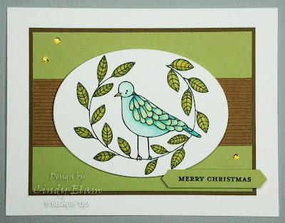Cheery Chirps, Christmas Card, CAS