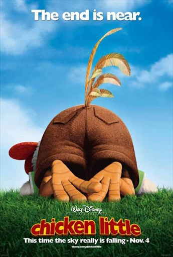 Chicken Little 2005 BRRip 480p Dual Audio Hindi 300MB
