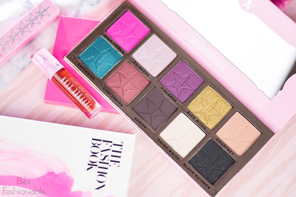 Jeffree Star Cosmetics Beauty Killer Palette offen Wifey Liquid Lipstick Flatlay