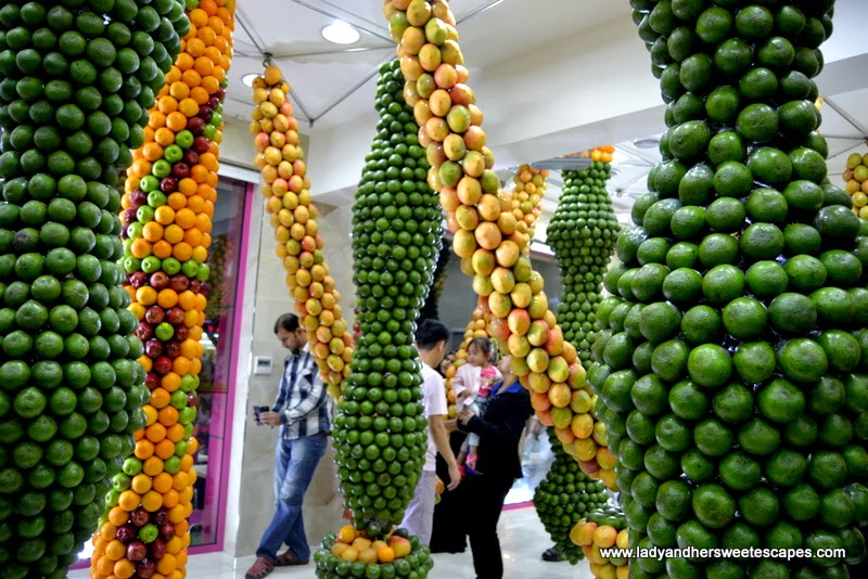 fruit decorations at Juice World Dubai
