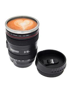 Camera Lens Black Mug Cup Flask alooflook.com