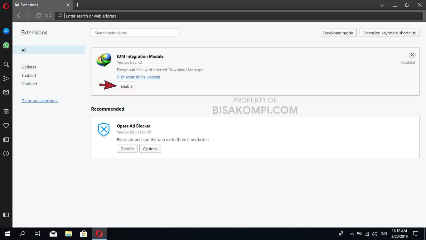 Penyebab dan Cara Mengatasi IDM Tidak Bisa Download File di Opera
