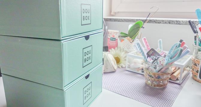 Aufbewahrung aus Beautyboxen