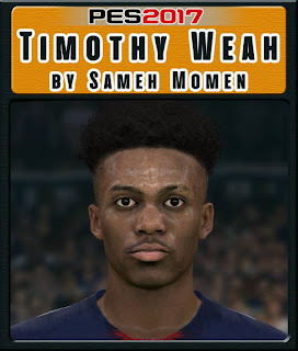 PES 2017 Faces Timothy Weah by Sameh Momen