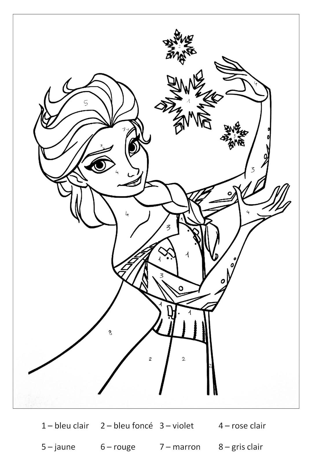 Tranh tô màu Elsa 0