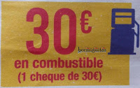 Cheque combustible 30€ Carrefour