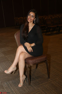 Kyra Dutta in black At Rogue Movie Audio Launch ~  026.JPG