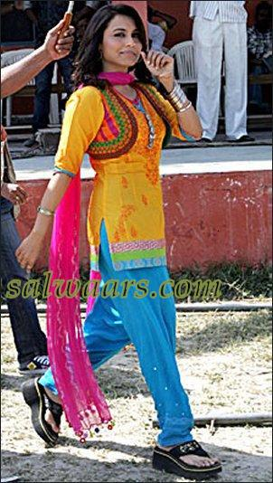 Rani Mukherjee In Yellow Patiala Salwar Kameez Indian