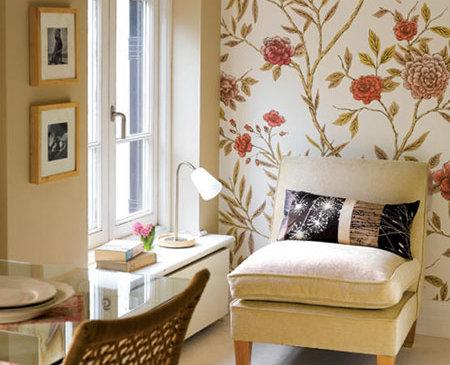 Combinar el empapelado con la pintura for Papel para empapelar habitaciones