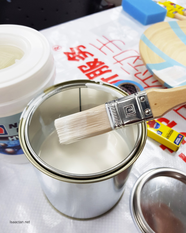 Nippon Paint Hydro Primer is used to prime the surface before painting