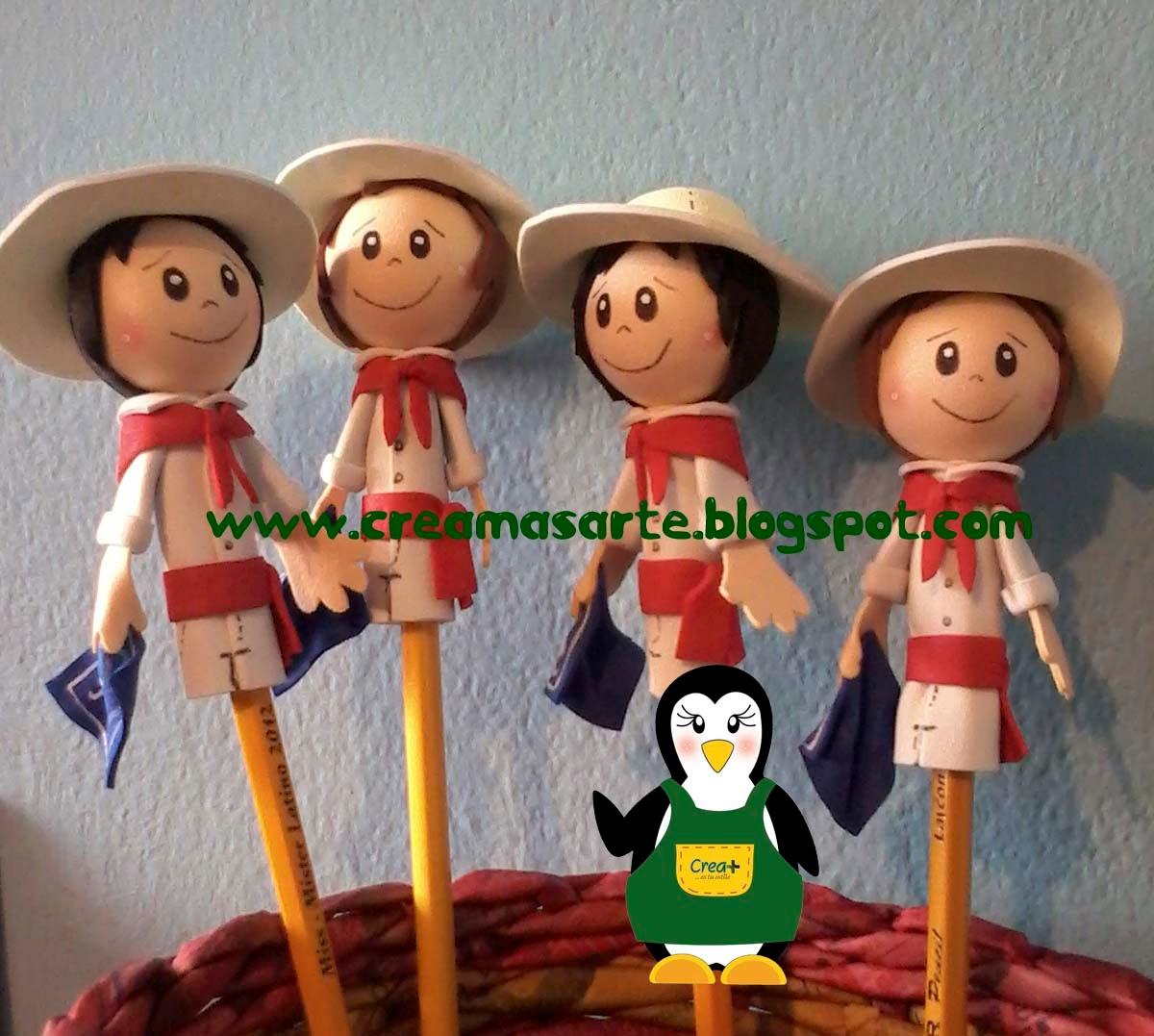 Creamas manualidades adornos para lapices costarricenses - Adornos para lapices en goma eva ...