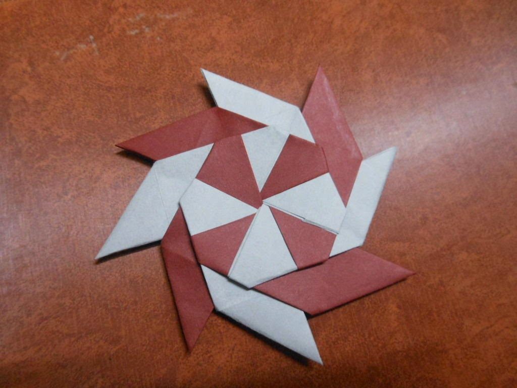 Origami ninja star instructions.
