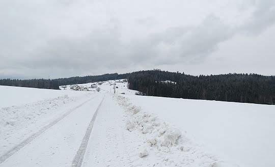 Przed nami Zbójecka Góra.
