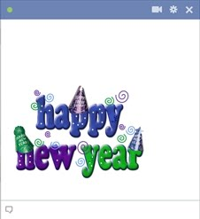 Happy New Year - Facebook Chat Emoticon