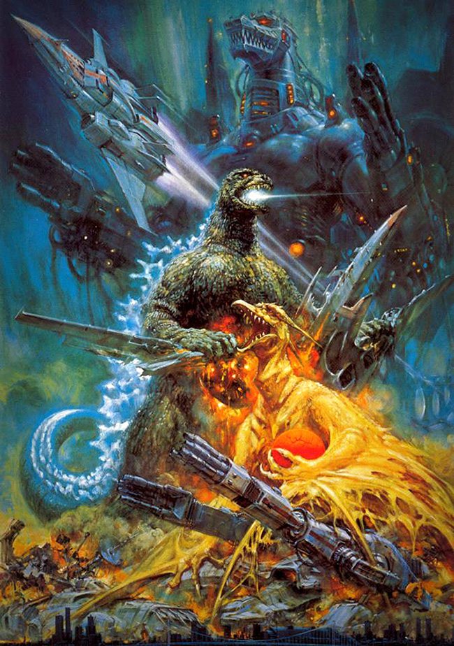 Noriyoshi Ohrai 生頼 範義 (Japan 1935 - 2015) - Godzilla artbook
